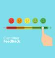 Feedback concept design feedback emoticon flat