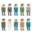 Flat design soldier uniform set vector image vector image