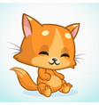 funny cat cartoon vector image