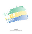gabon flag with halftone effect vector image vector image