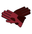 Glove of winter cloth design vector image vector image