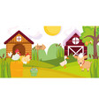 goat duck rooster hen chicken house barn farm vector image