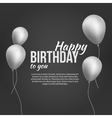 happy birthday poster happy birthday background vector image vector image