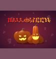 happy halloween banner different pumpkins vector image vector image