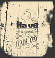 have a great hair dayquote typographical vector image vector image