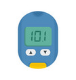 home glucometer icon flat style vector image vector image