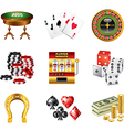 icons casino vector image