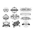 insignia logotype or label in retro style set on vector image