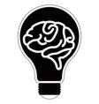 Isolated lightbulb silhouette