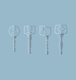 Keys Transparent vector image vector image