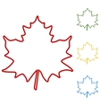 Maple leaf Set of line icons vector image