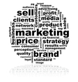 Marketing word cloud vector image