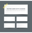 Paper cards with shadow vector image