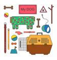 Pet shop set vector image