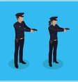 police policeman and woman vector image