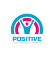 positive - business logo template concept vector image vector image