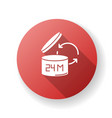 product shelf life red flat design long shadow vector image