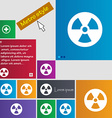 radiation icon sign buttons Modern interface vector image