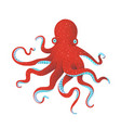red octopus vector image vector image