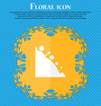 Rockfall icon Floral flat design on a blue vector image vector image
