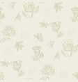 seamless floral pattern with flowers and leaves vector image vector image