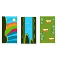 seamless summer landscapes for game background vector image vector image