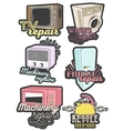 set of colorful home appliance repair vector image vector image