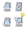 set of iphone character with expression angry love vector image vector image