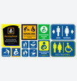 set of restroom nursing room lactation room plac vector image vector image