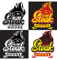 set templates for steak house with vector image vector image