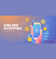 shopping online banner vector image vector image