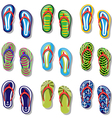 Slippers set vector image vector image