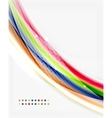 Smooth colorful line on white Wave abstract vector image vector image