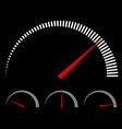 speedometer or generic meters gauges with red vector image