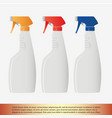 spray bottle vector image vector image