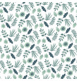 spring blooming flowers and foliage bush vector image vector image
