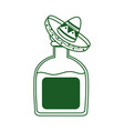 tequila bottle with hat cinco de mayo mexican vector image vector image