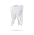 Tooth abstract isolated on a white backgrounds vector image vector image