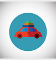 travel car with baggage on flat background vector image