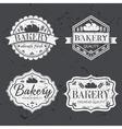 Vintage retro bakery labels on chalkboard vector image vector image