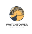 Watchtower logo template vector image