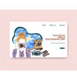 website template design with world photography vector image vector image