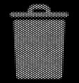 white pixelated trash bin icon vector image vector image