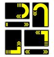 yellow arrows vector image