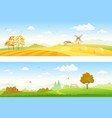autumn countryside banners vector image