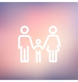 Family thin line icon vector image