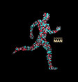 3d running man design for sport business science vector image