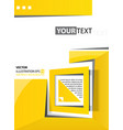 abstract background yellow square vector image vector image
