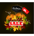 autumn sale concept vector image vector image