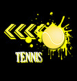 background abstract tennis ball from blots vector image